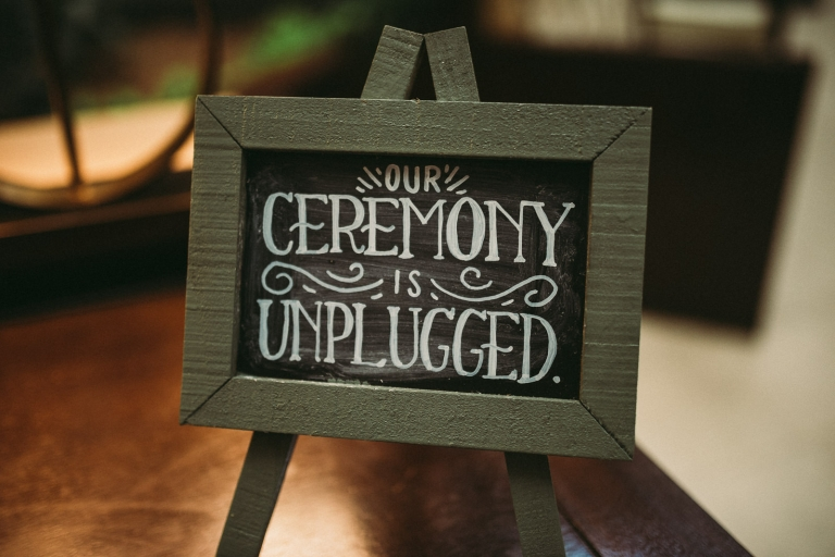 Unplugged ceremony- sign