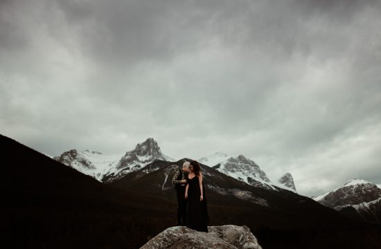 Lesbian elopement in Banff National Park