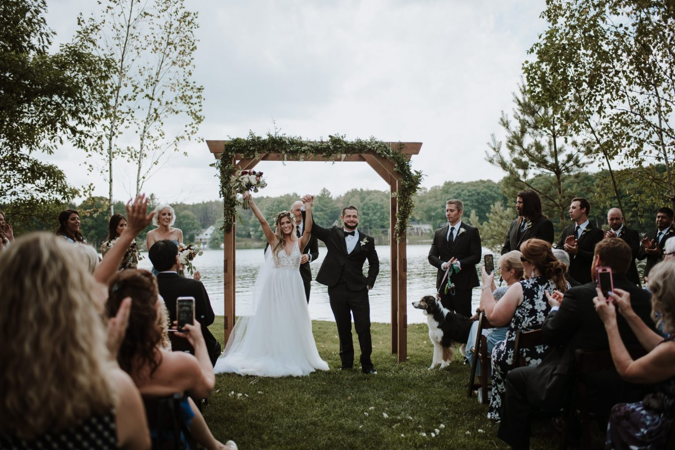 Gaylord MI wedding outdoor ceremony