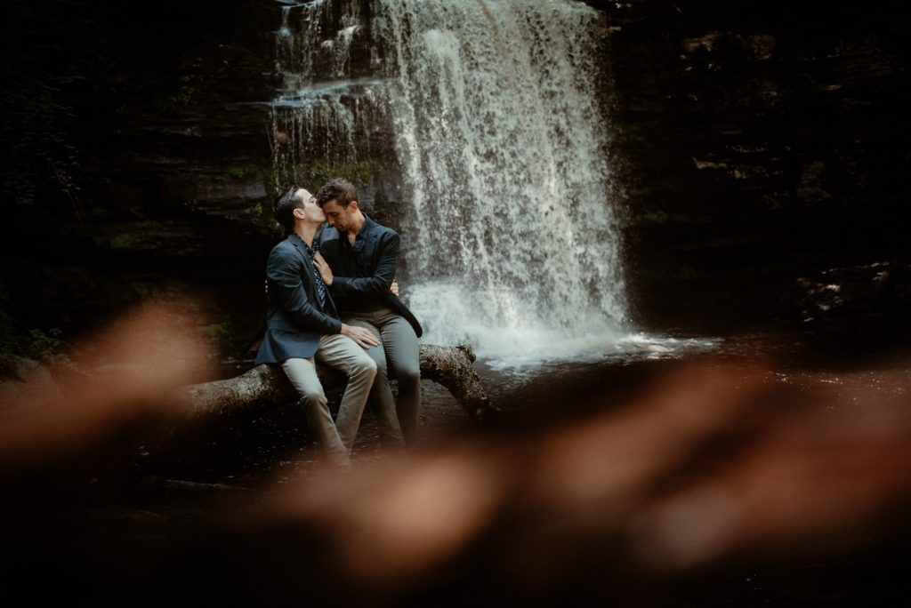 LGBT couple's portrait session