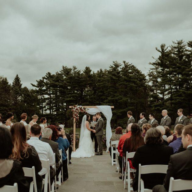 Outdoor Michigan wedding