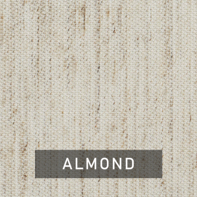 almond fabric swatch (natural beige)