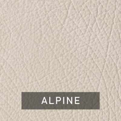 alpine luxe leather swatch (cream)