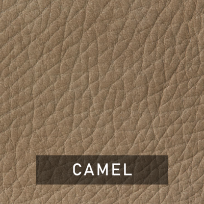 camel luxe leather swatch (tan)