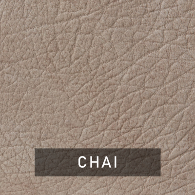 chai luxe leather swatch (mauve brown)