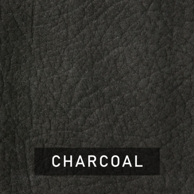 charcoal luxe leather swatch (dark gray)