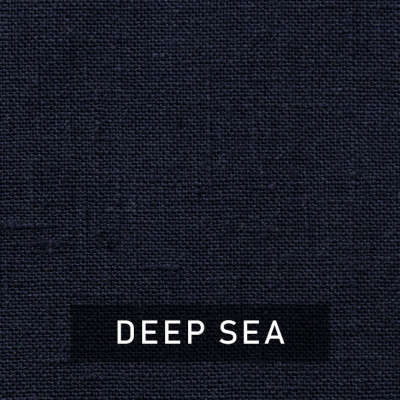 deep sea luxe linen swatch (deep sea)