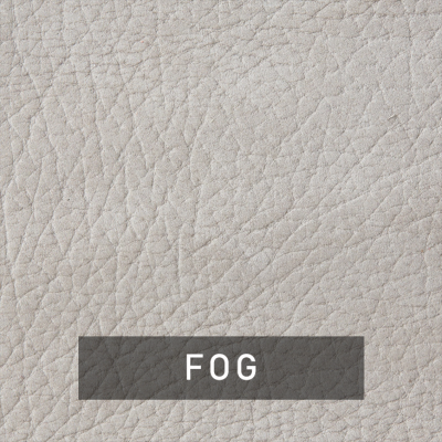 fog luxe leather swatch (light gray)