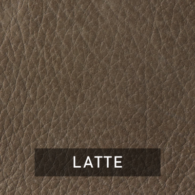 latte luxe leather swatch (dark brown)
