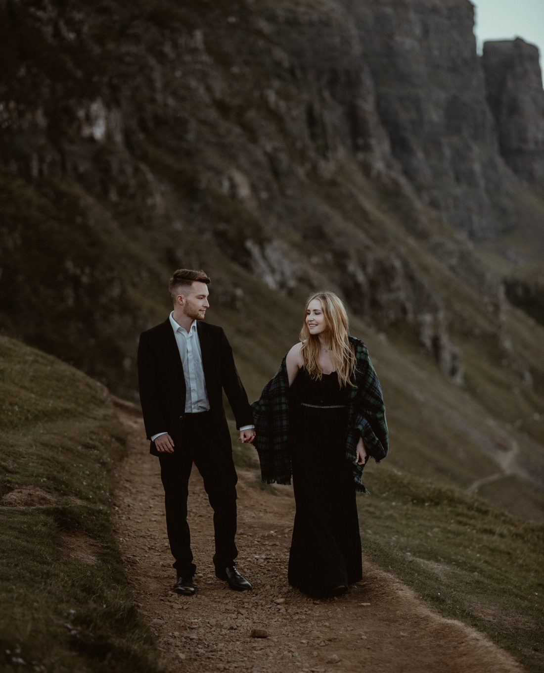 Isle of Sky elopement at the Quiraing