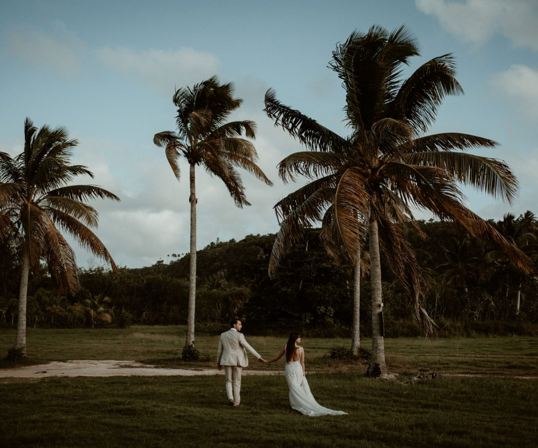 Bride and groom at destination wedding in Puerto Rico