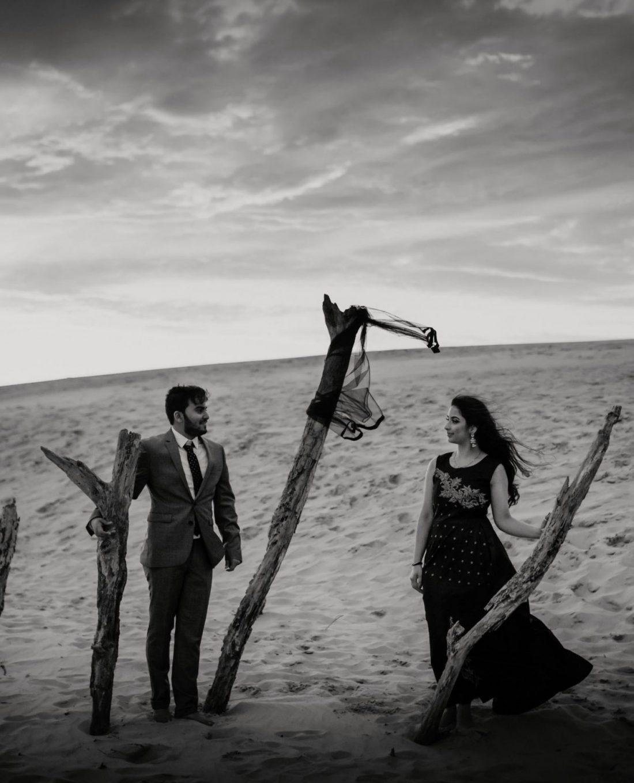 Destination wedding in a desert