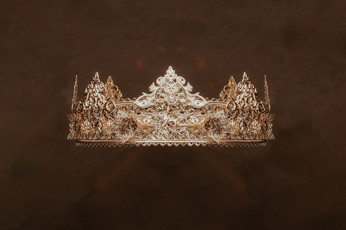 Gold Orthodox wedding crown.