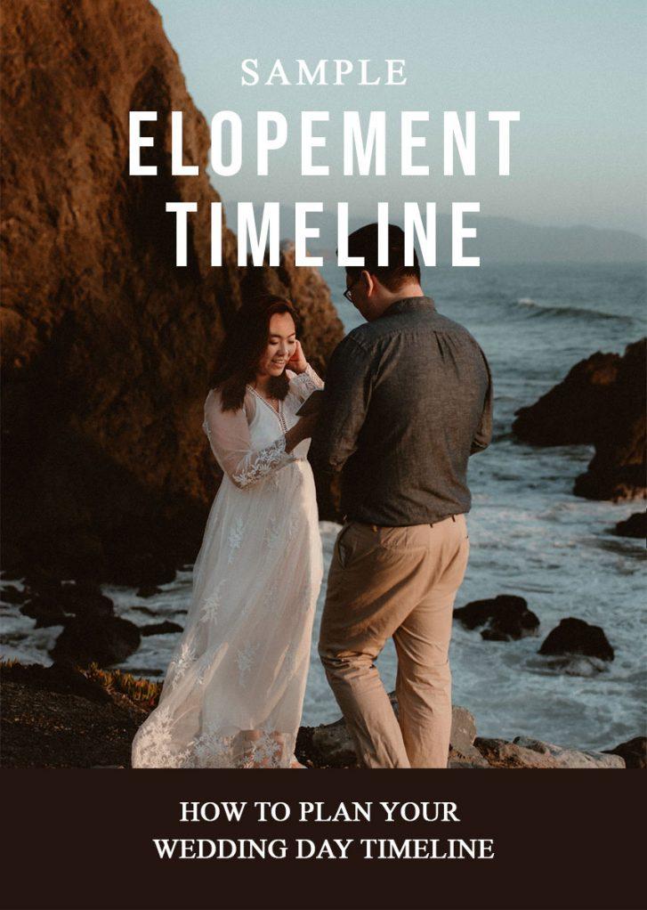 Sample elopement timeline cover