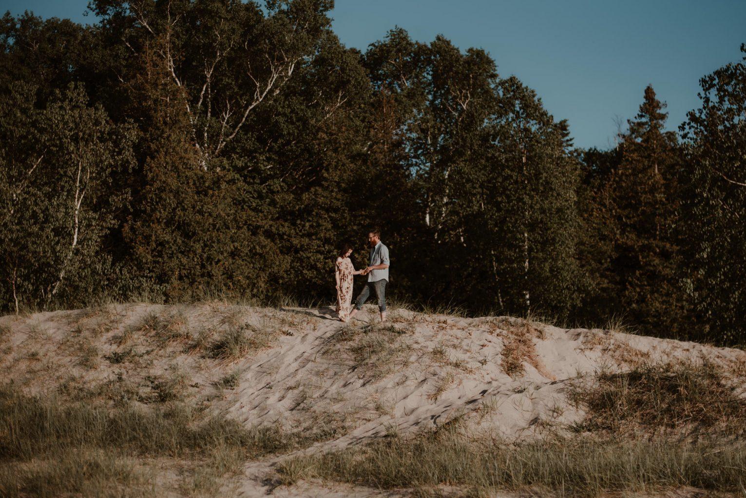 Couple's portrait session in Charlevoix, MI