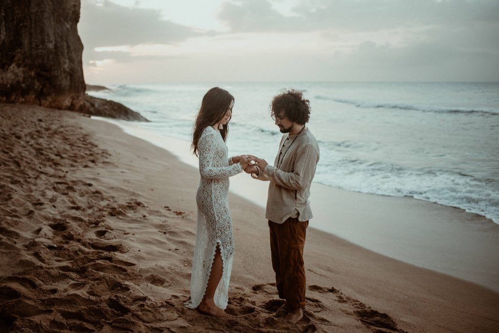Tropical Puerto Rico elopement on the beach