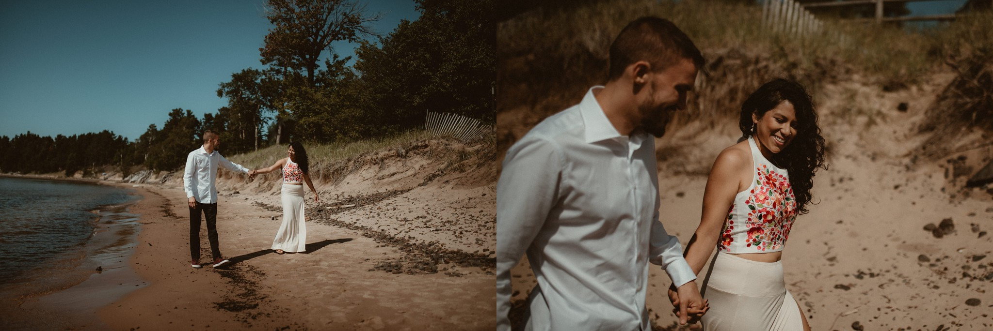 Wedding day couples photos in Michigan's Upper Peninsula