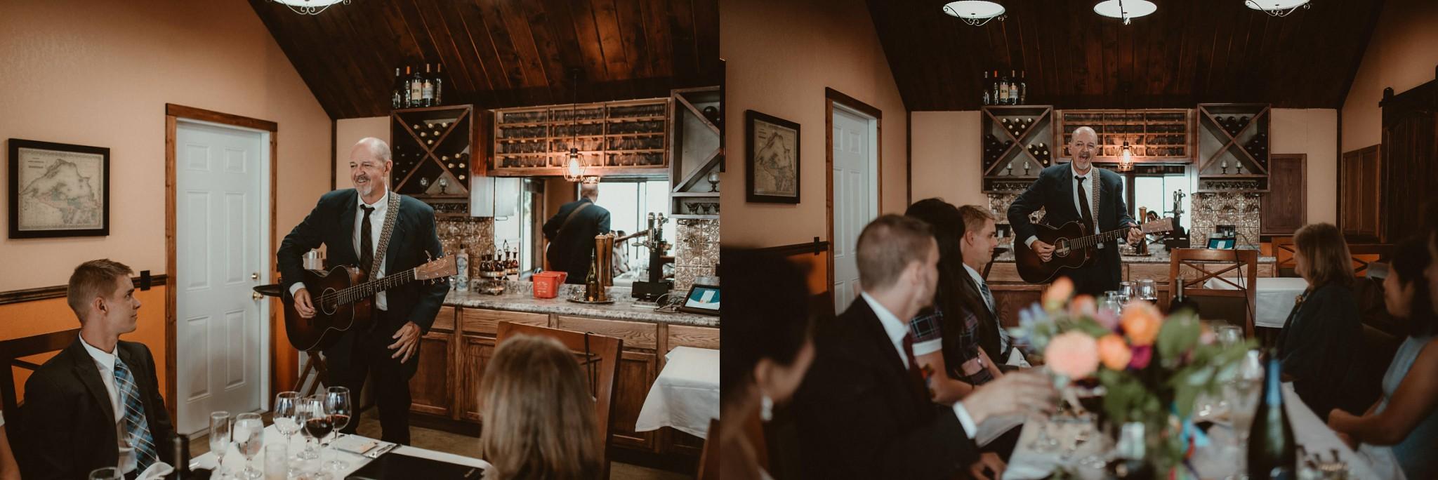 Wedding dinner at the Harbor Haus Restaurant in Copper Harbor