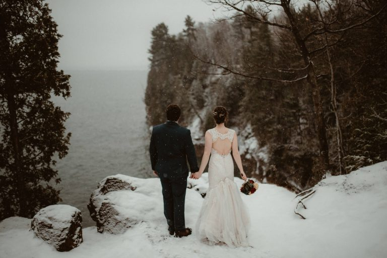 Winter Elopement on Sugarloaf Mountain
