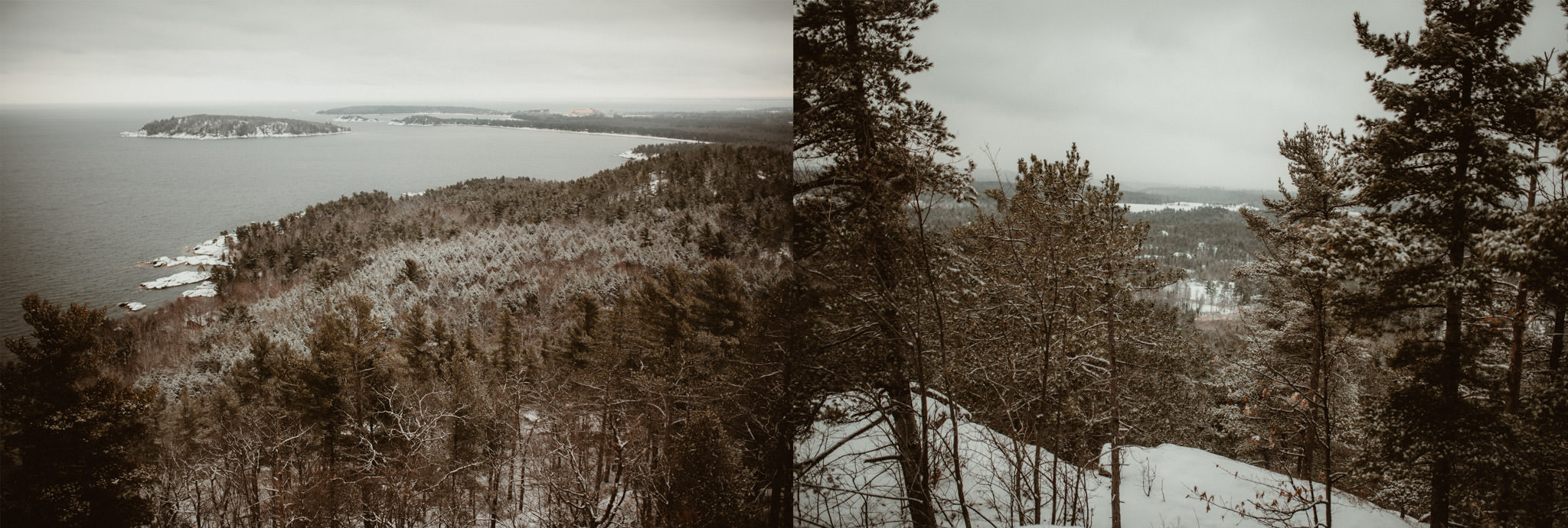 Sugarloaf Mountain in winter