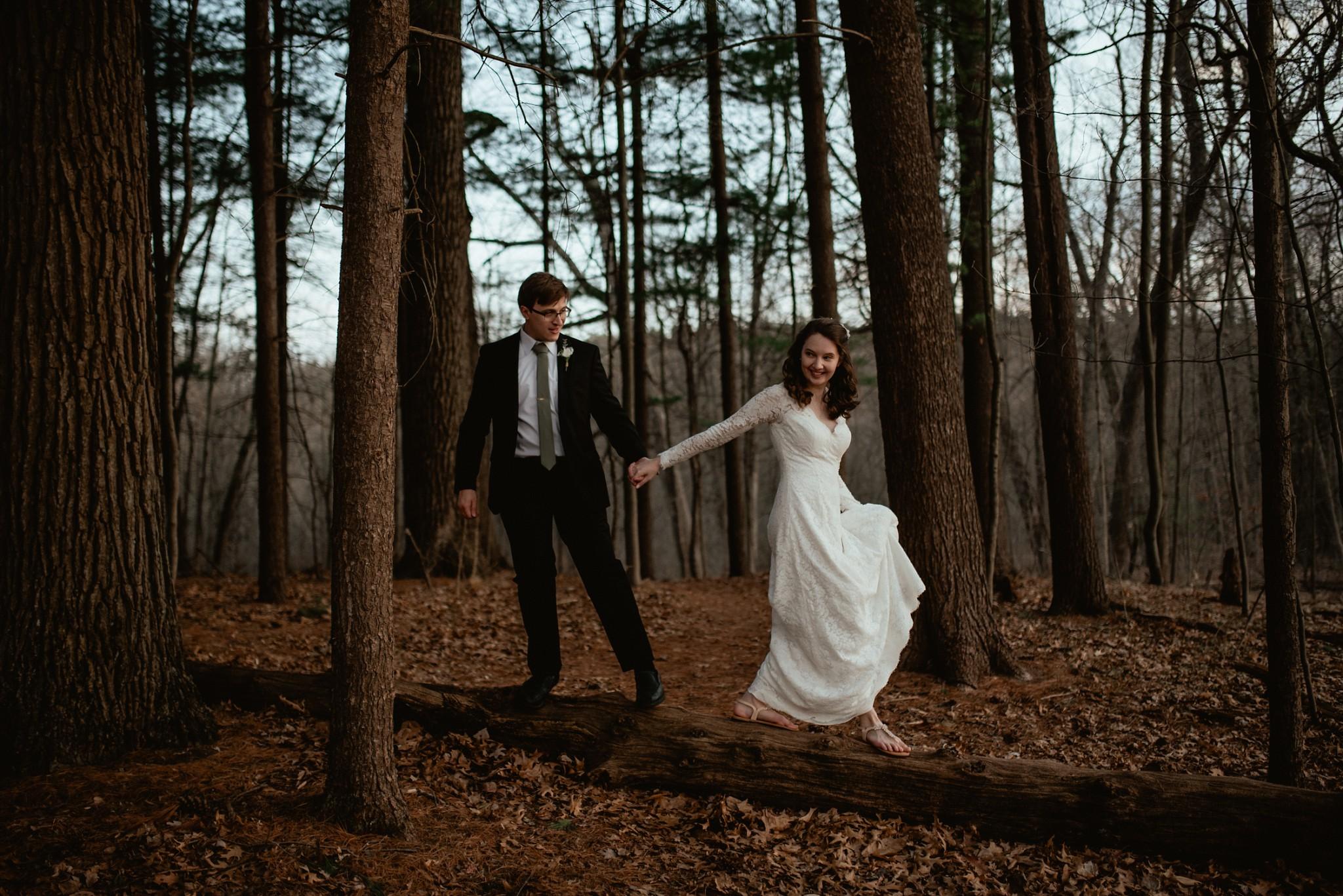 Michigan elopement in the woods